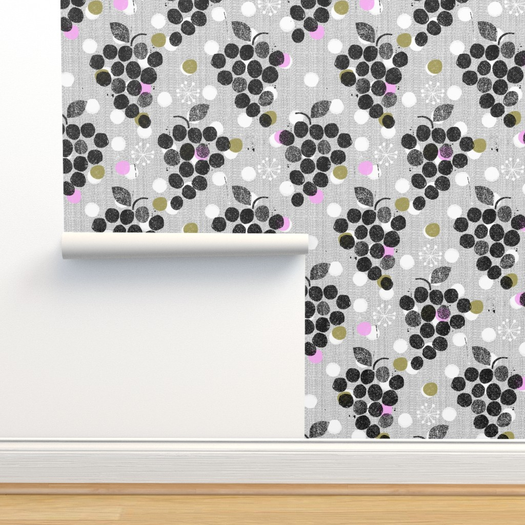 Isobar Durable Wallpaper featuring grapes are the new dot by ottomanbrim
