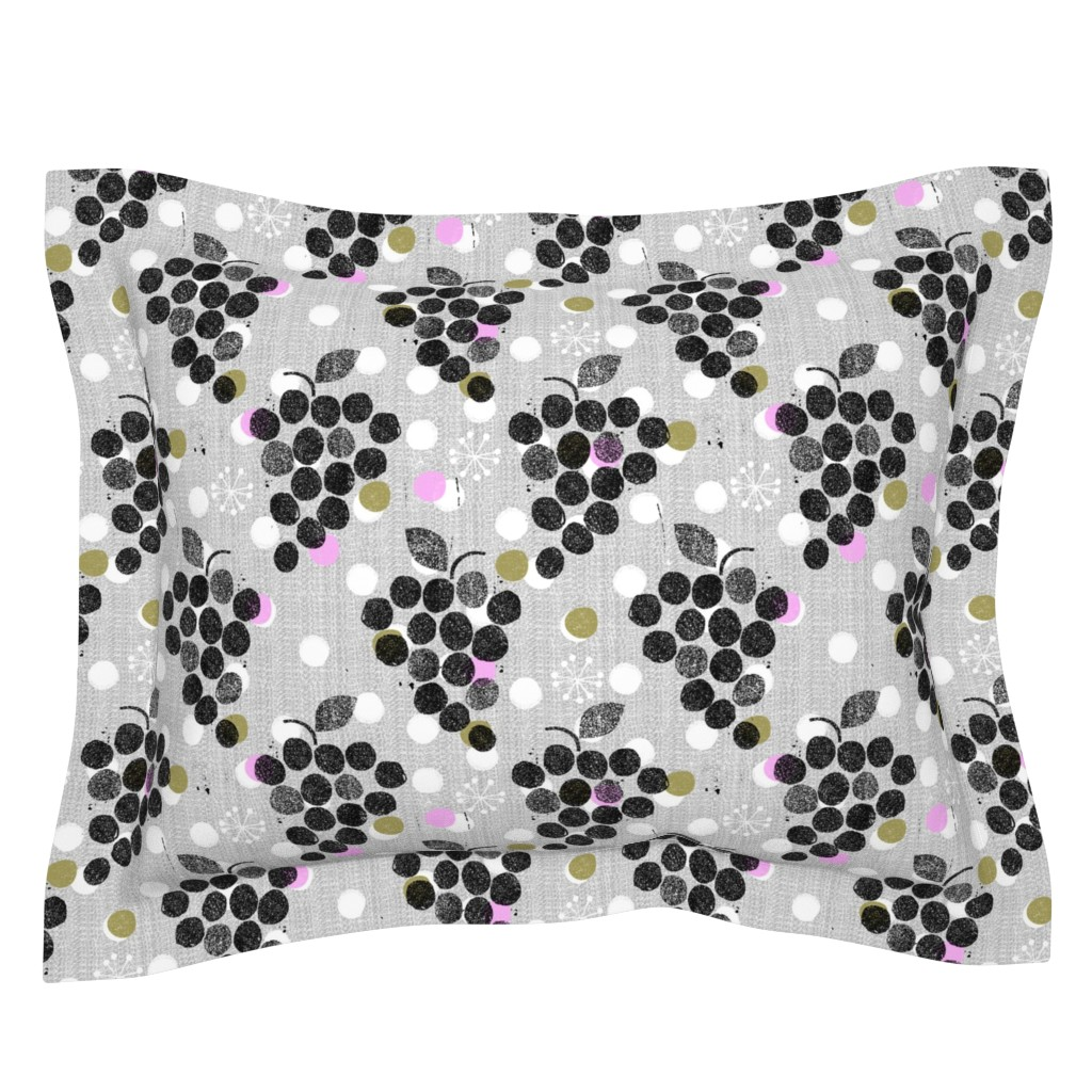 Sebright Pillow Sham featuring grapes are the new dot by ottomanbrim