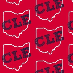 CLE Ohio Red and Blue
