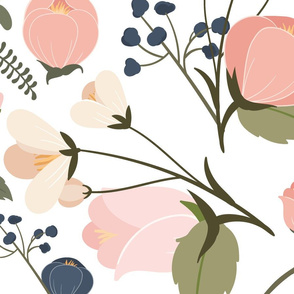 Victoria Pink & Blue Regular Flowers