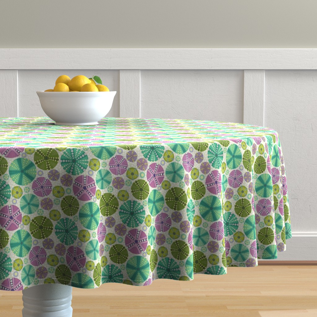 Malay Round Tablecloth featuring Circlette Demi by lily_studio