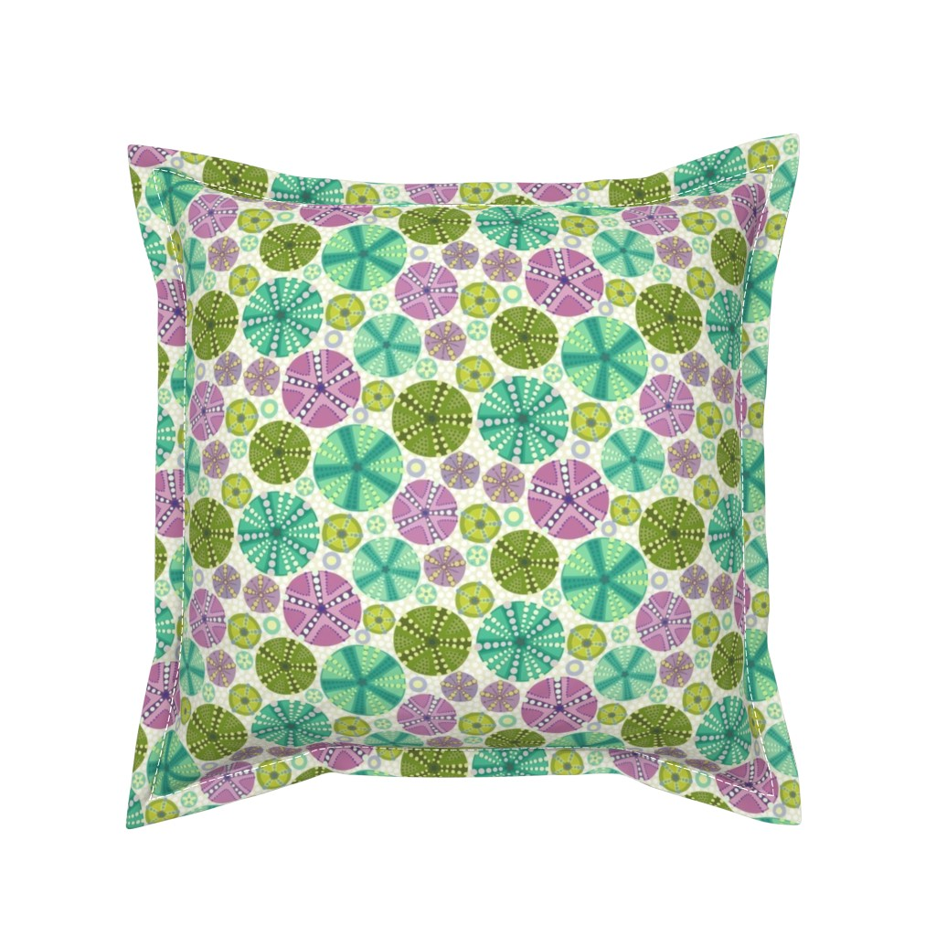 Serama Throw Pillow featuring Circlette Demi by lily_studio