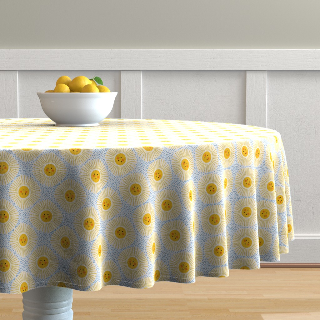 Malay Round Tablecloth featuring Sun up, Sun down by sweet_designs_nz