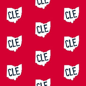 Ohio CLE Red and Blue
