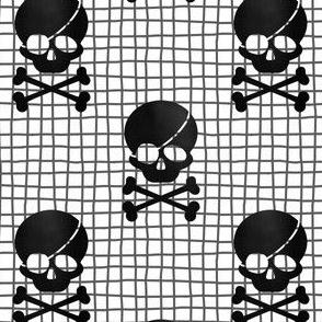 Skull and cross bones pirate - midi scale