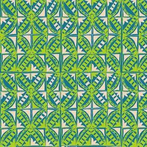 Chartreuse Deco Tiles