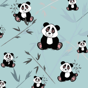 panda vintage blue fq