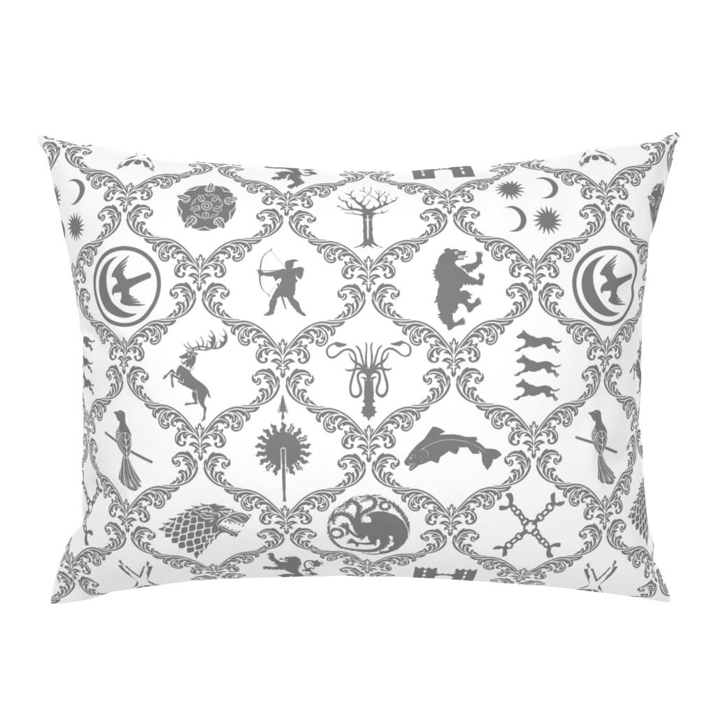 Campine Pillow Sham featuring GOT Damask by ladyspring