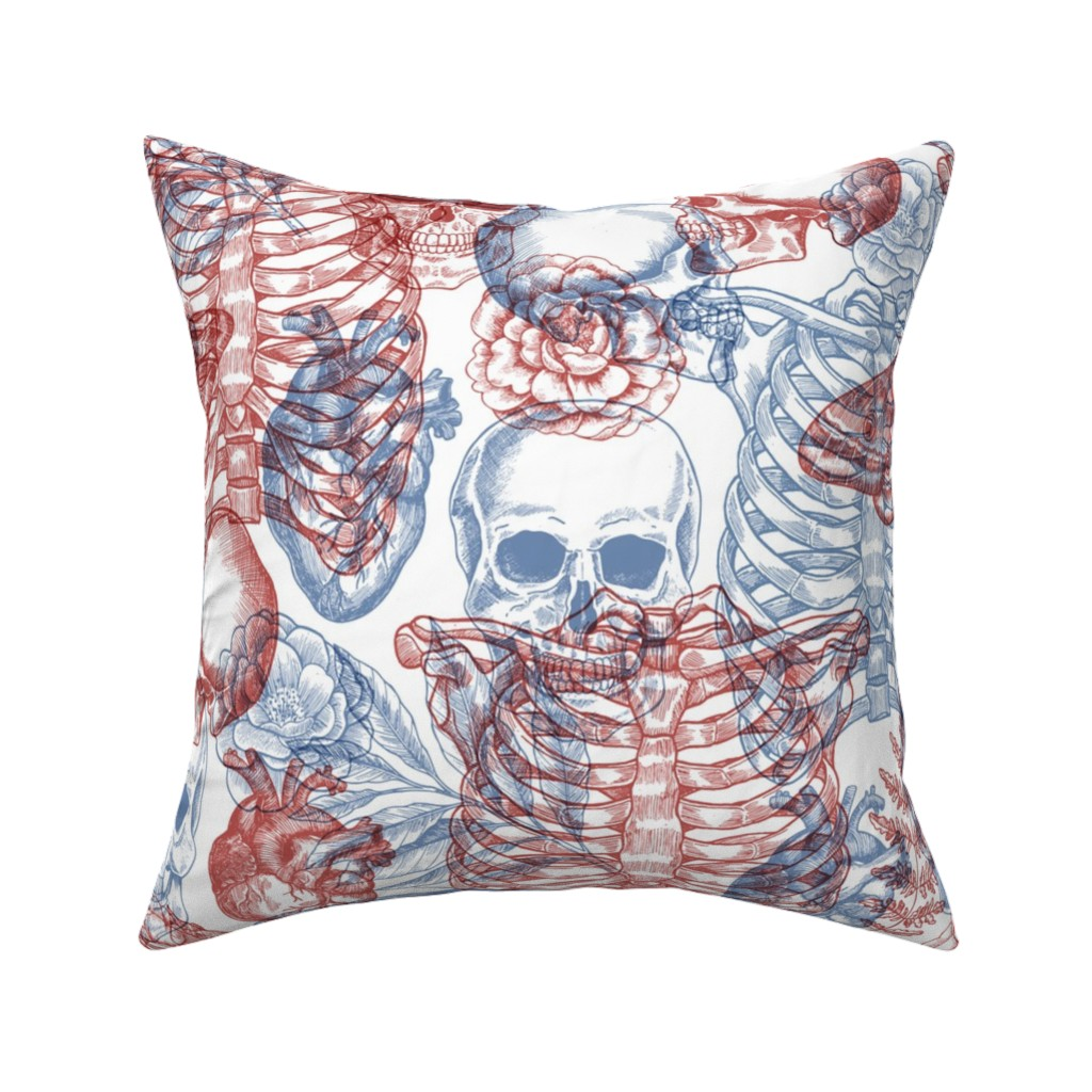 Catalan Throw Pillow featuring Anatomy x-ray pattern by adehoidar