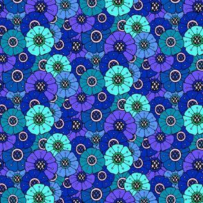 Blue Field of Flowers