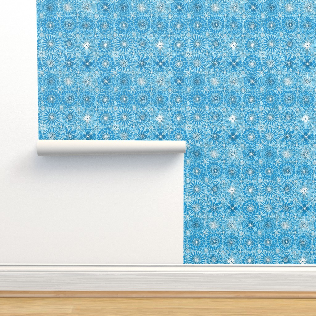 Isobar Durable Wallpaper featuring Pattern #93 Greek embroidery lace by irenesilvino
