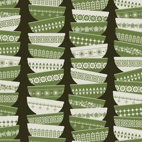 Vintage pyrex - green