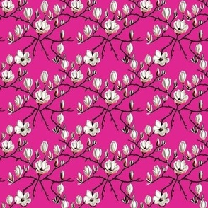 Magnolia flower// hot pink Floral