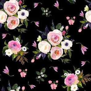 """8"""" Colette Blooms - Black"""