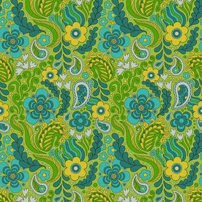 Groovy Floral Green small scale
