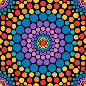 Totally Circular | rainbow on black