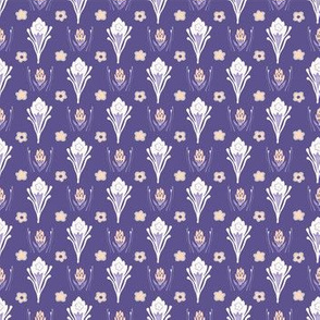 Purple Daisy Folk Art Floral