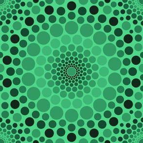 Totally Circular | green ombre
