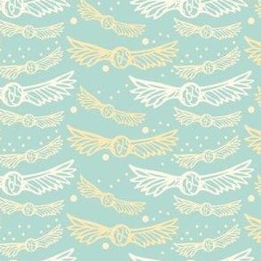 Golden wings, on Mint
