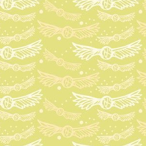 Golden Wings on yellow/Gold