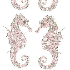 seahorse pink large