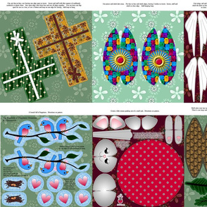 Bluebirds of Happiness Plus 9 - buy a FQ for 6 designs; a yard for 10!