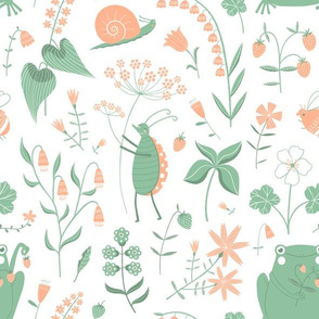 frogs and wild strawberries