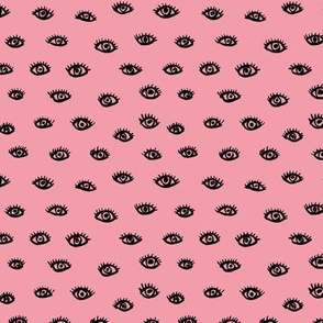 Watch me watching you pop minimal trend eyes eye lashes raw drawing ink pink summer SMALL