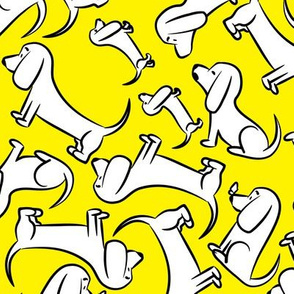 Doodle Bassets - Yellow