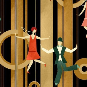 Art Deco Charleston Dancers