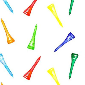 Rainbow Golf Tees