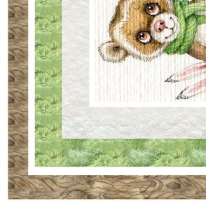 Woodland Friends Animals Fairy tales Blanket panel