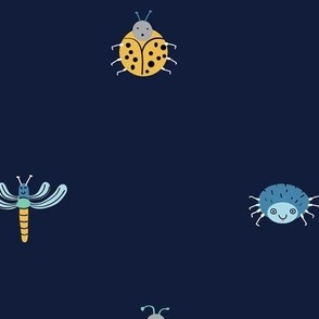Little Crawlers on Blue (large)