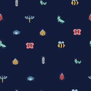 Little Crawlers on Blue (Small)
