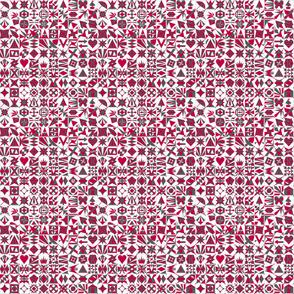AES Raspberry and Grey 100 block