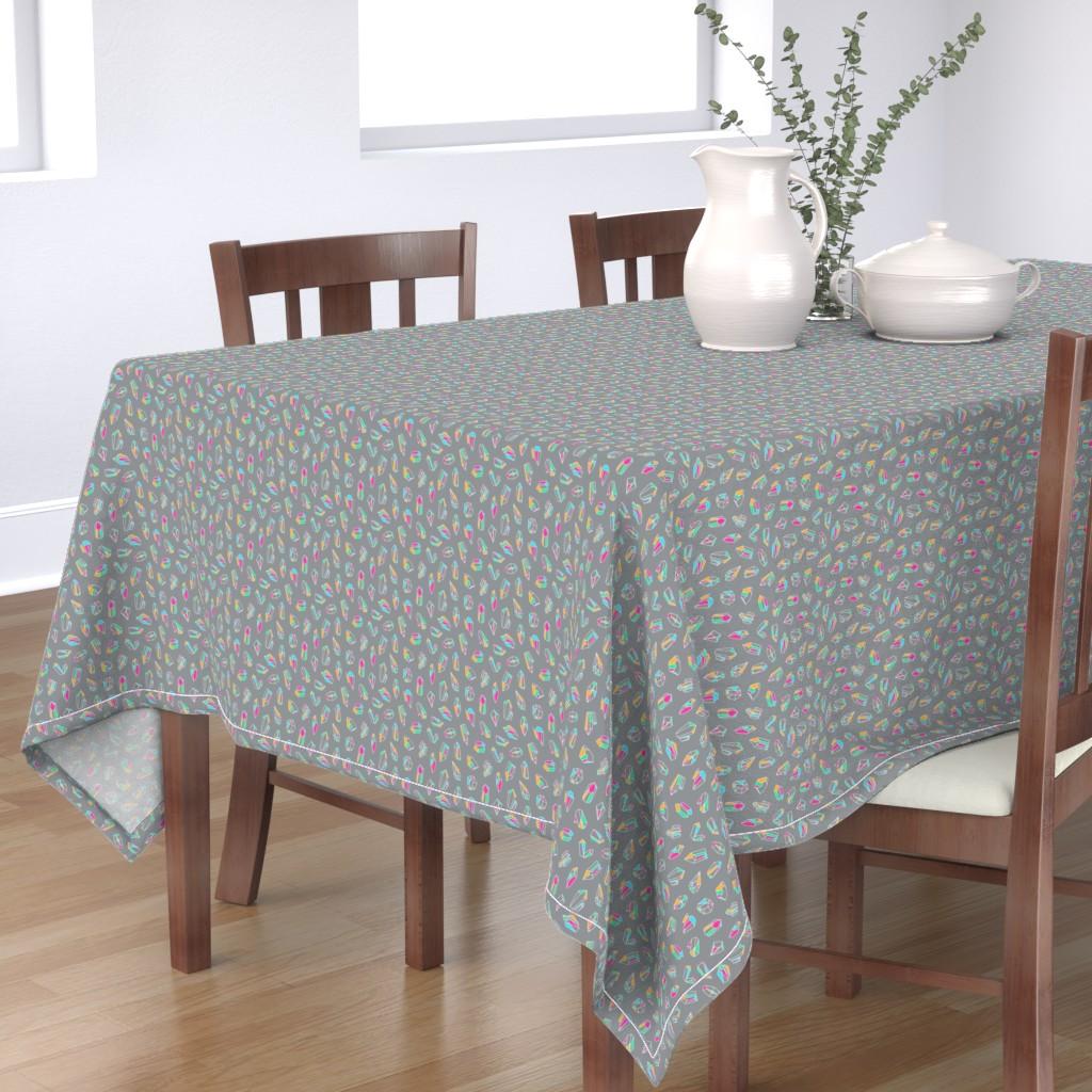 Bantam Rectangular Tablecloth featuring Simple Crystals by miranema