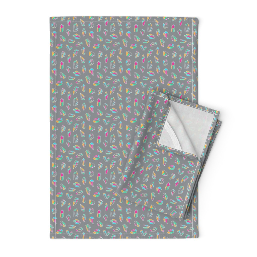 Orpington Tea Towels featuring Simple Crystals by miranema