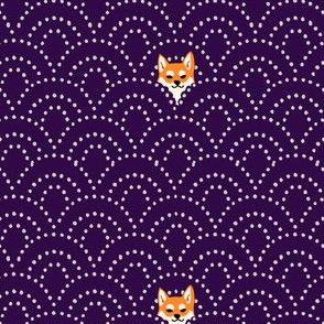 sashiko shiba purple