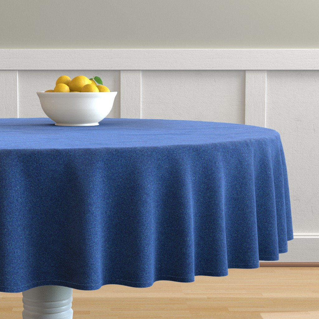 Malay Round Tablecloth featuring CD22 -Speckled Teal and Azure Blue Texture by maryyx