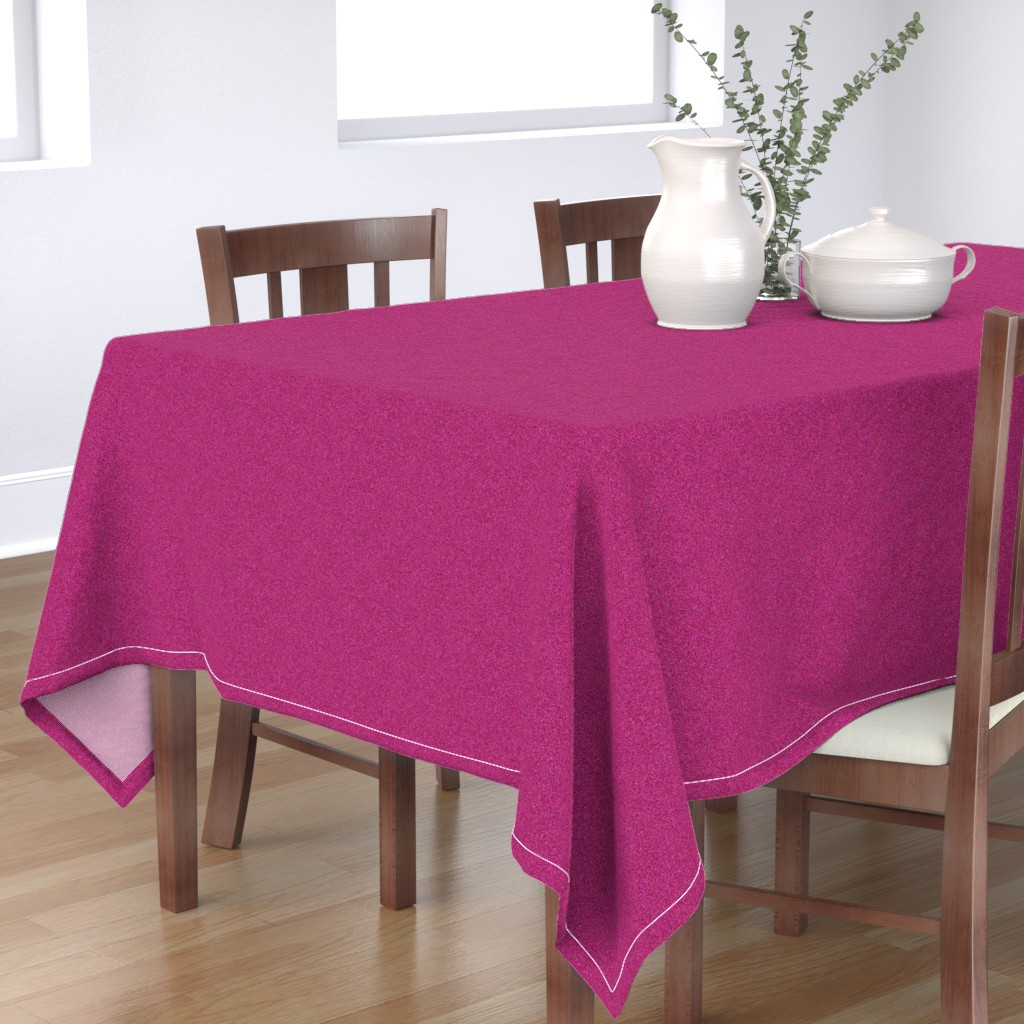 Bantam Rectangular Tablecloth featuring CD22 - Speckled Pink Raspberry Texture by maryyx