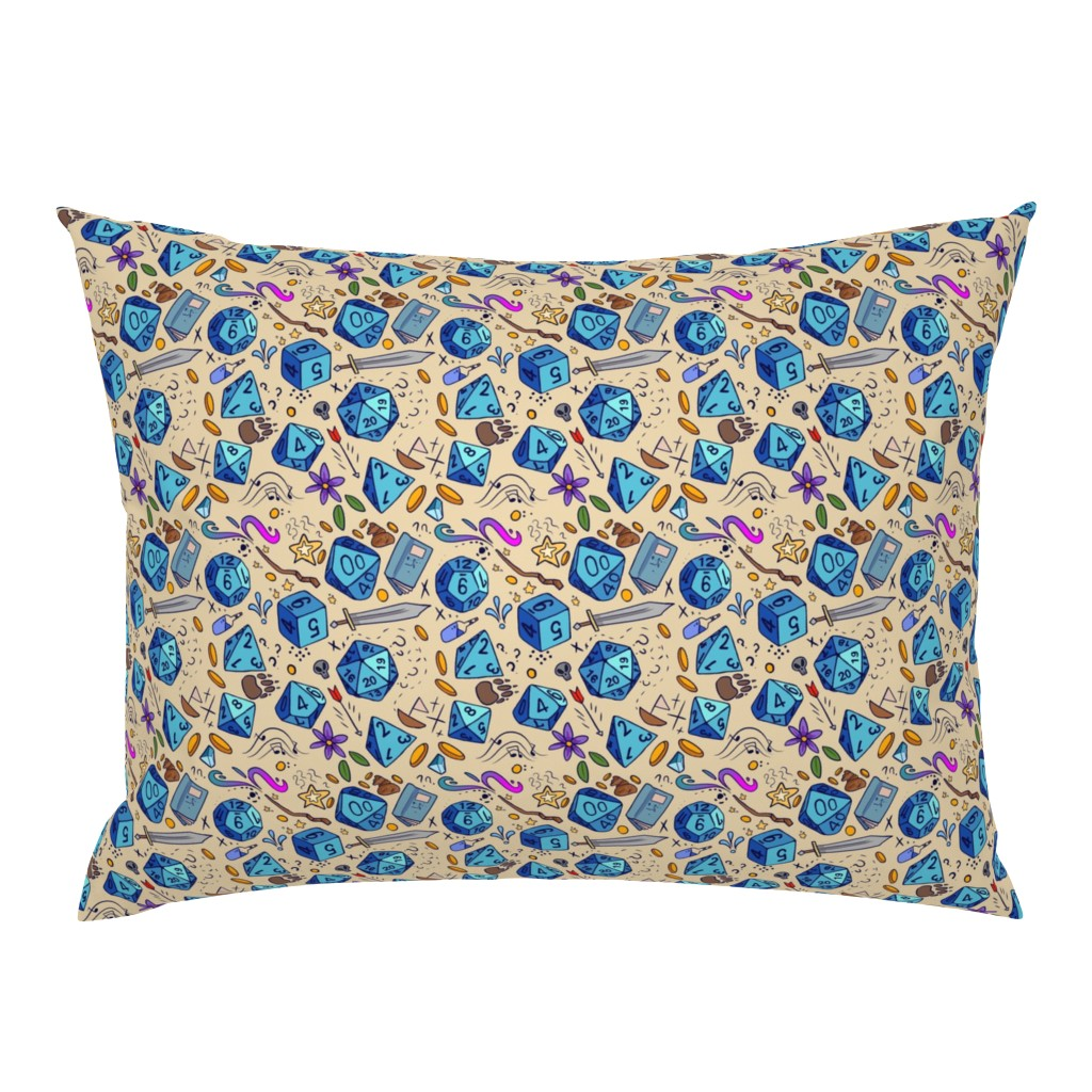 Campine Pillow Sham featuring DND pattern by neonborealis