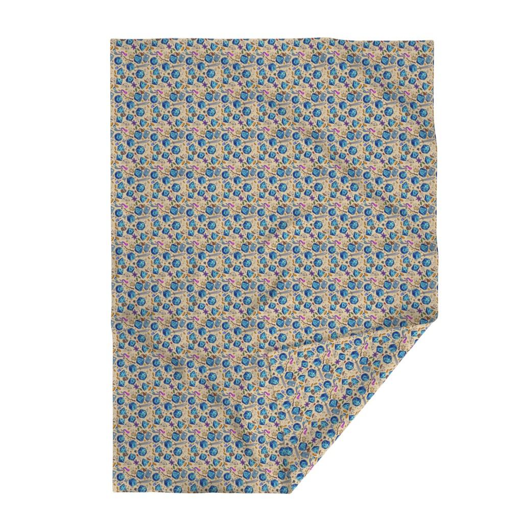 Lakenvelder Throw Blanket featuring DND pattern by neonborealis