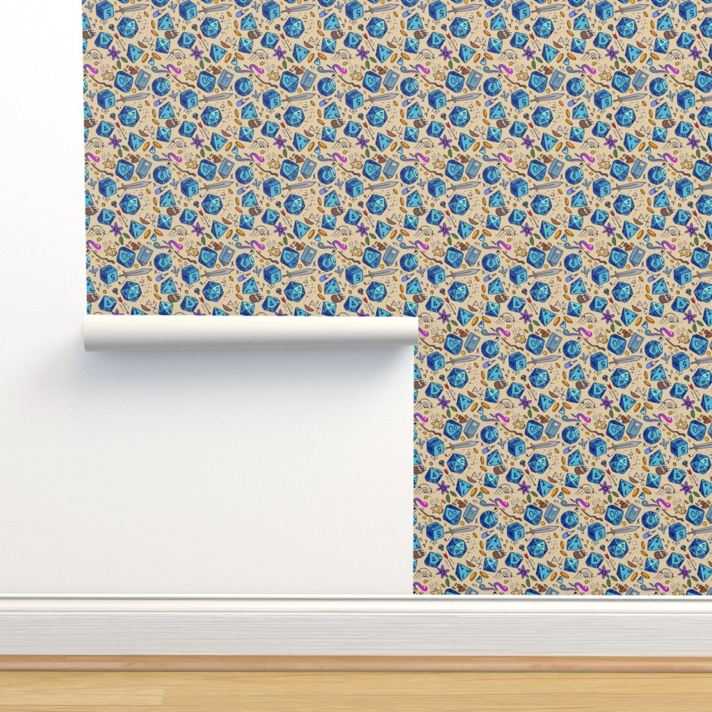 Isobar Durable Wallpaper featuring DND pattern by neonborealis