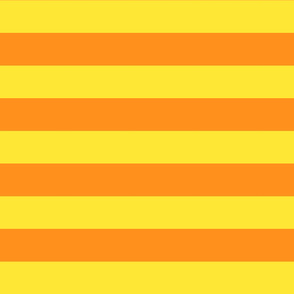 yellow and orange stripes 2in :: halloween