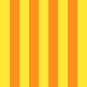 yellow and orange stripes 2in :: halloween vertical
