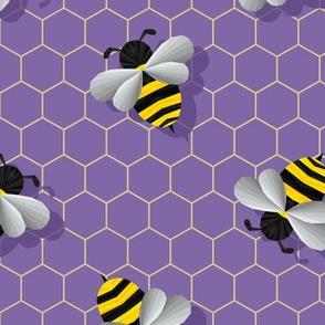 Geometric Bumbles on Purple