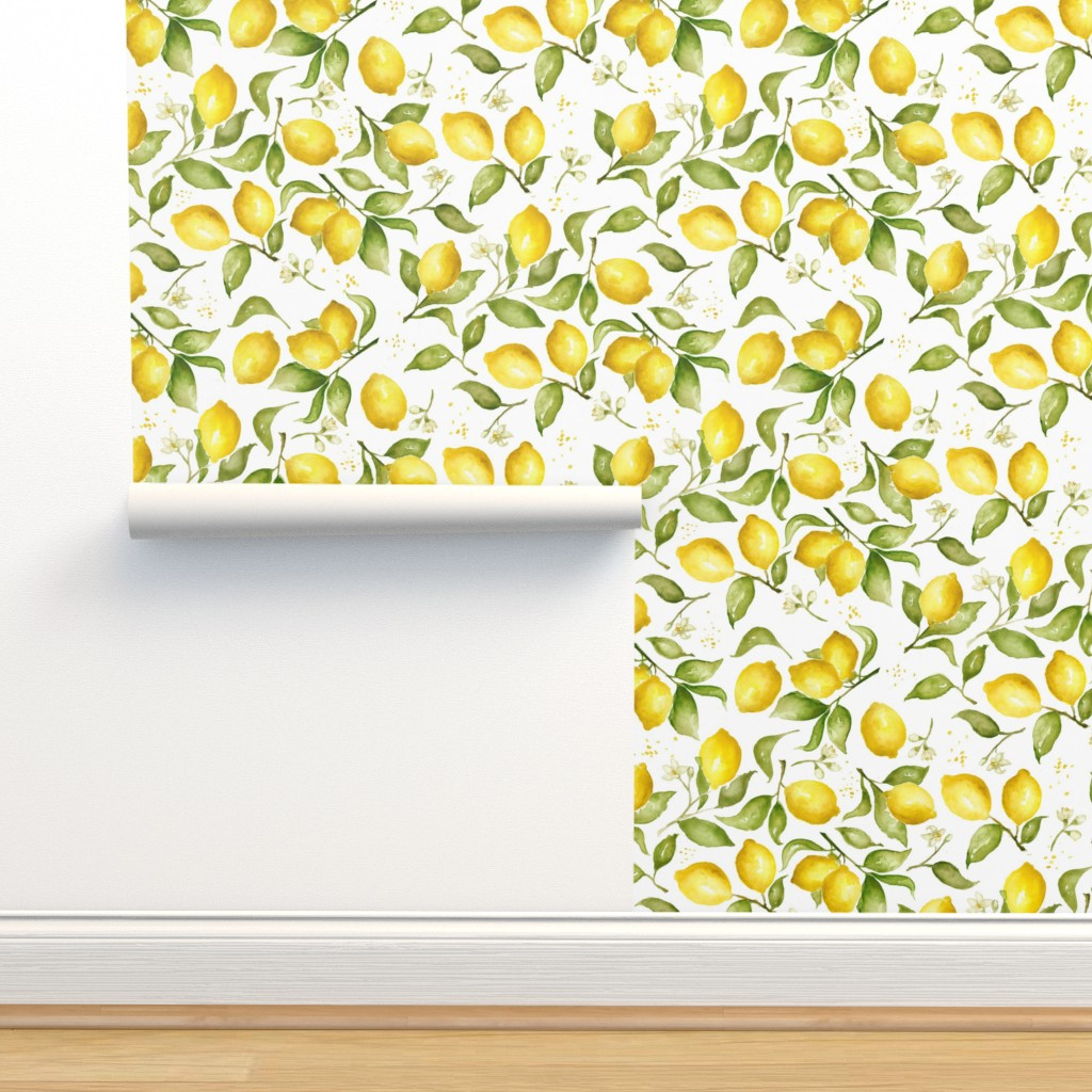 Isobar Durable Wallpaper featuring Lemon Blossoms by laurapol