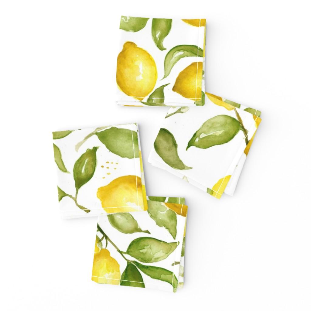 Frizzle Cocktail Napkins featuring Lemon Blossoms by laurapol