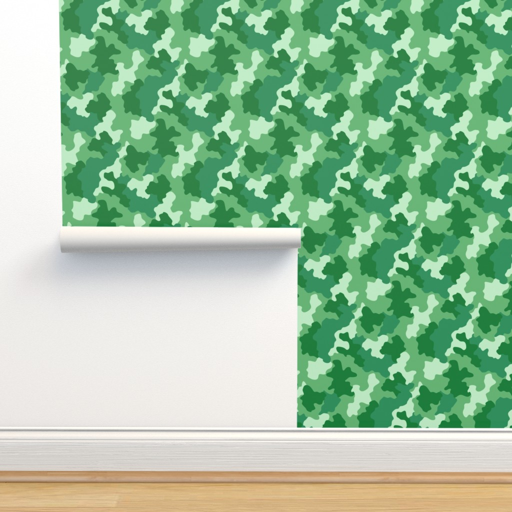 Isobar Durable Wallpaper featuring Green Camo by kimsa