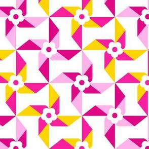 Toy Windmills Pink Yellow
